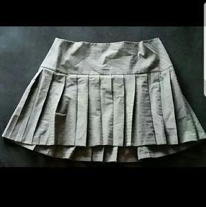 Torrid high low grey pin stripe skirt